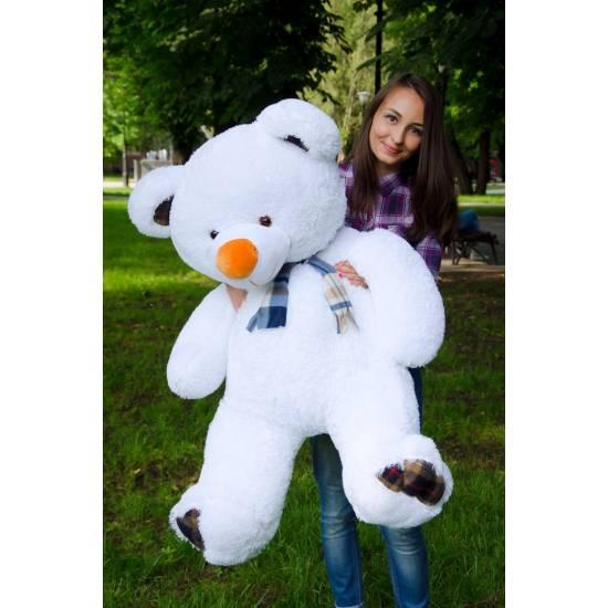 Плюшевый мишка белый 130 см Барни