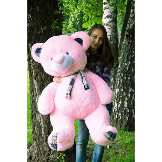 Плюшевый мишка розовый 130 см Барни