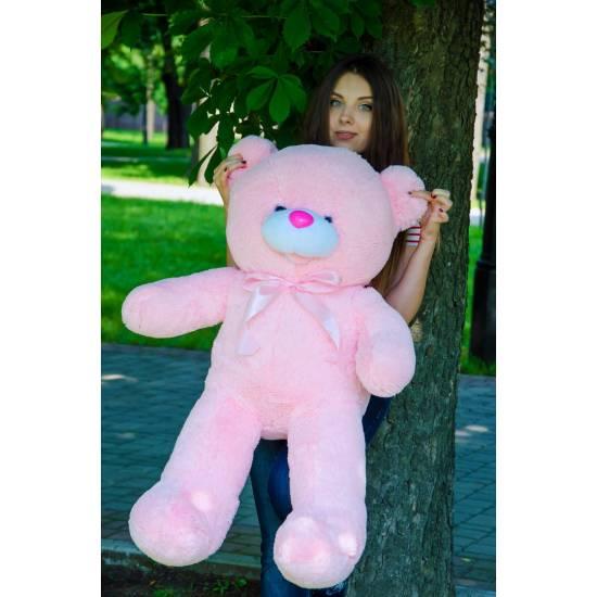 Плюшевый мишка розовый Бант 110 см