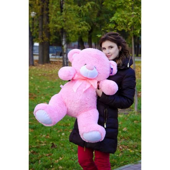 Плюшевый мишка розовый 90 см Бойд