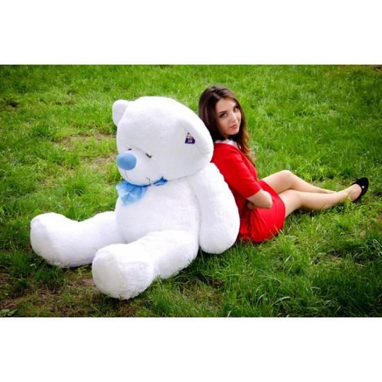Плюшевый мишка белый 160 см Бойд