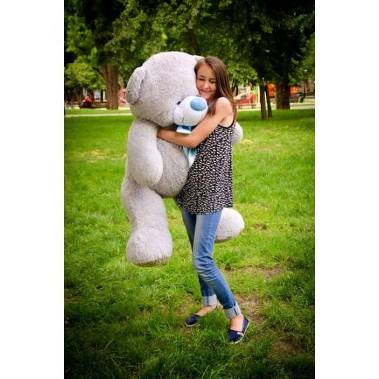 Плюшевый мишка серый 160 см Бойд