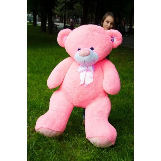 Плюшевый мишка розовый 160 см Бойд