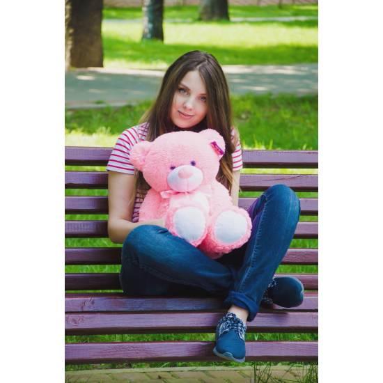 Плюшевый мишка розовый 70 см Бойд
