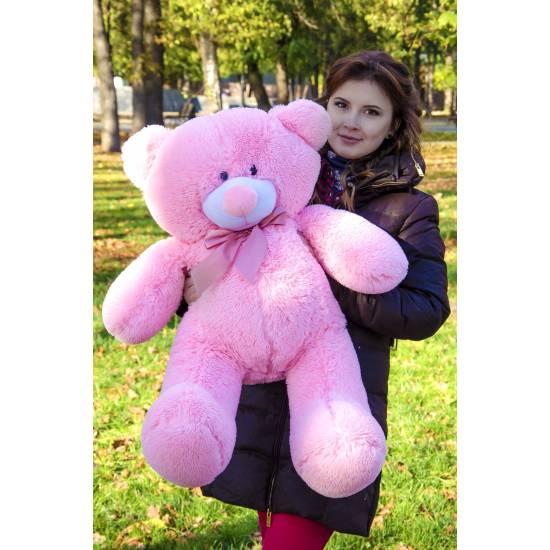 Плюшевый мишка розовый 80 см Пух
