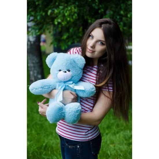 Плюшевый мишка голубой 50 см Рафаэль