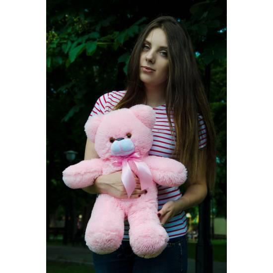 Плюшевый мишка розовый 50 см Рафаэль