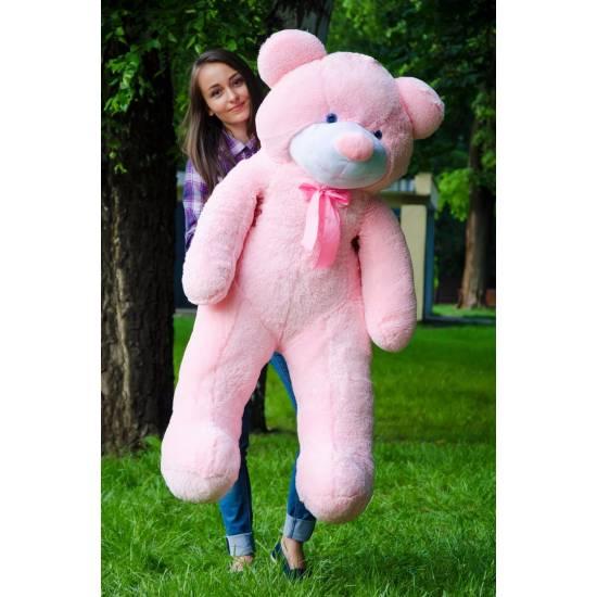 Плюшевый мишка розовый 140 см Рафаэль