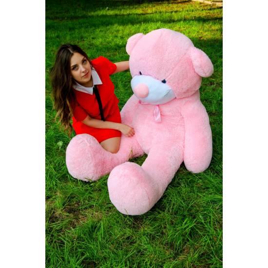 Плюшевый мишка розовы 200 см Рафаэль