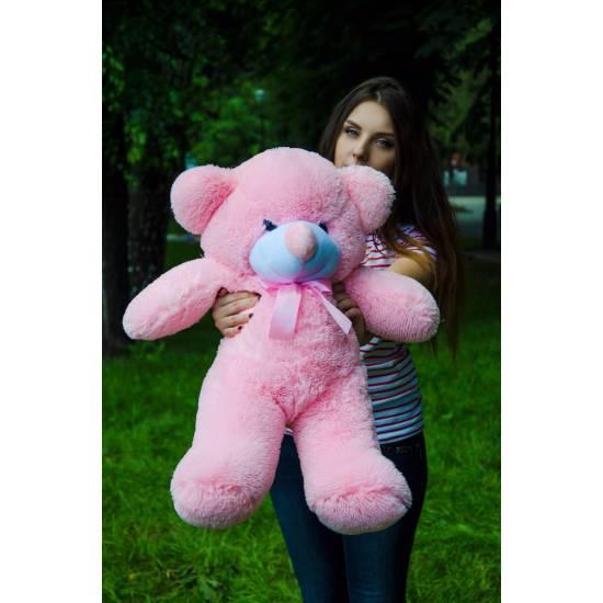 Плюшевый мишка розовый 80 см Рафаэль
