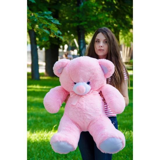 Плюшевый мишка розовый 100 см Томми