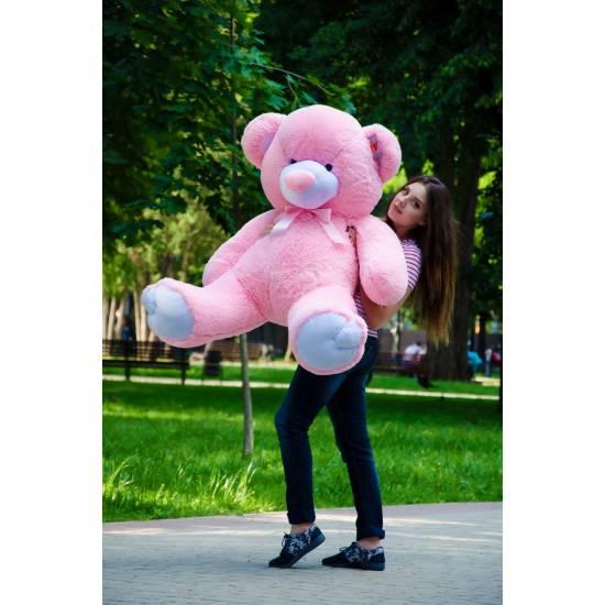 Плюшевый мишка розовый 150 см Томми