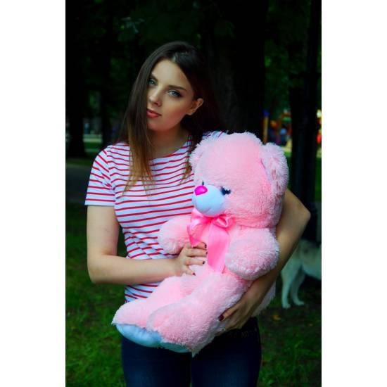 Плюшевый мишка розовый 65 см Томми
