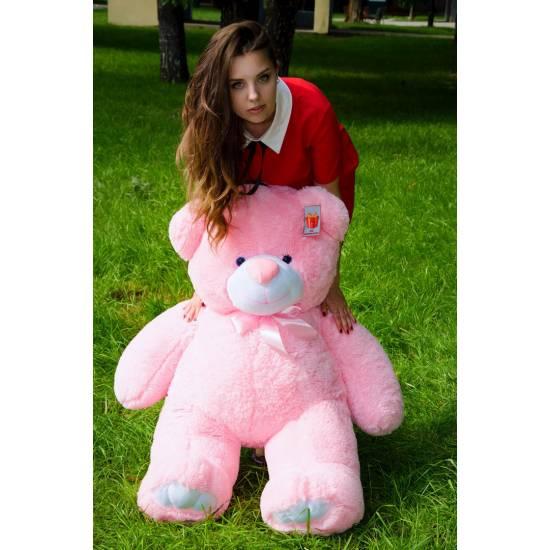 Плюшевый мишка розовый 130 см Ветли