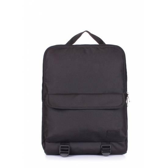 Черный рюкзак с наружным карманом