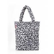 Дутая сумка белого цвета с рисунком