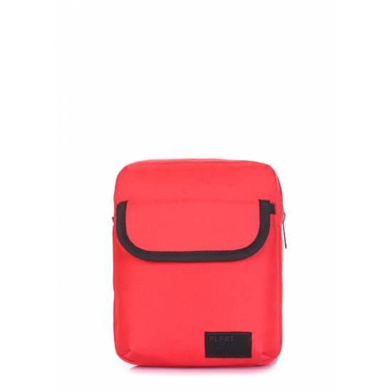 Мужская сумка красного цвета на плечо