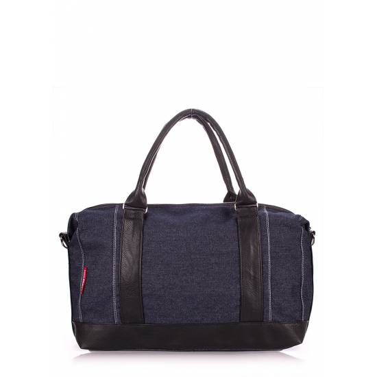 Джинсовая сумка синего цвета с двумя карманами