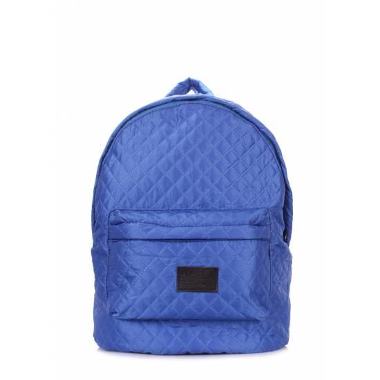 Стеганый рюкзак синего цвета