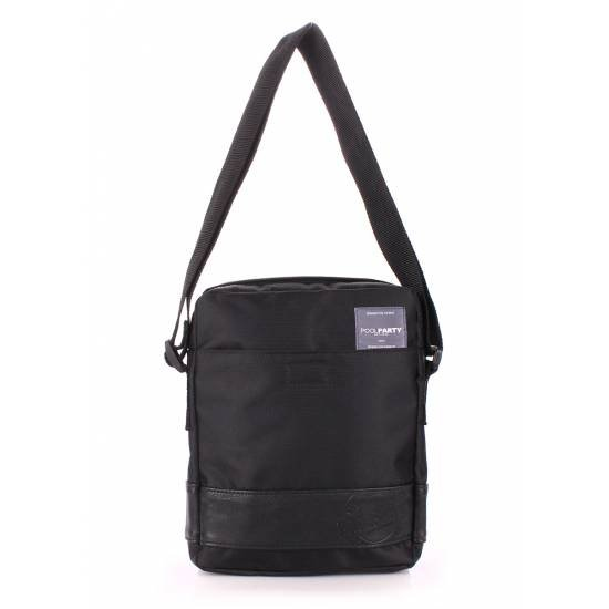 Мужская сумка черного цвета на плечо