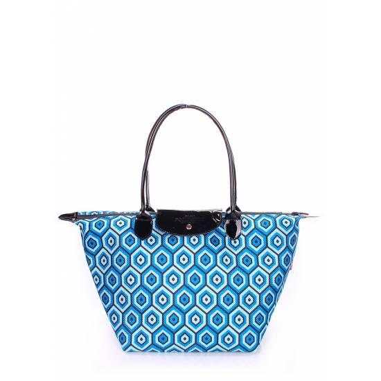 Синяя сумка с клапаном