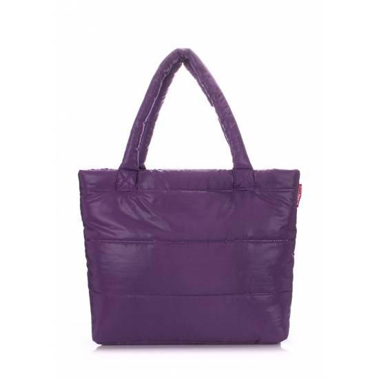 Дутая сумка фиолетового цвета