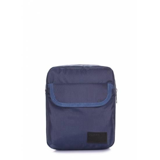 Мужская сумка синего цвета на плечо