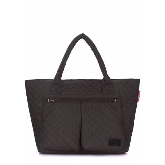 Стеганая черная сумка