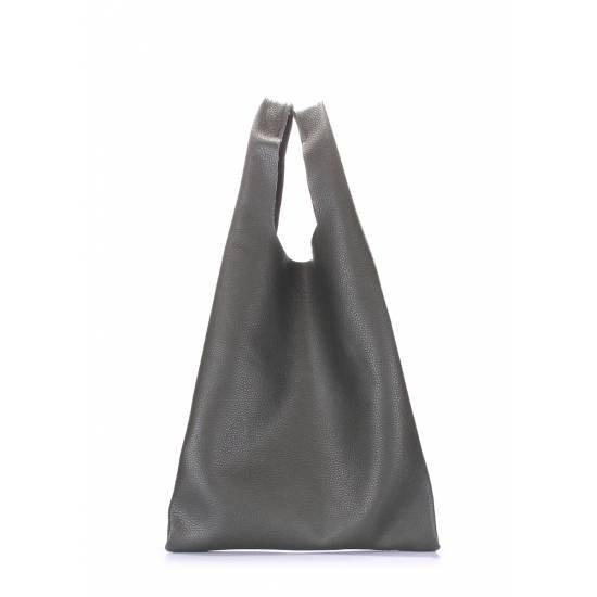Кожаная сумка цвета хаки