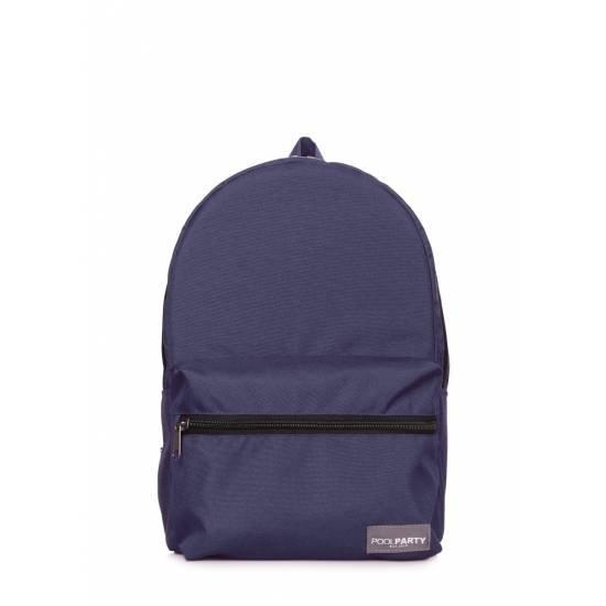 Повседневный городской рюкзак темно-синего цвета