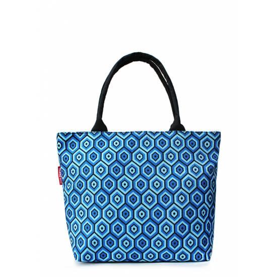 Синяя сумка с мягкими ручками