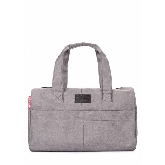 Городская сумка серого цвета
