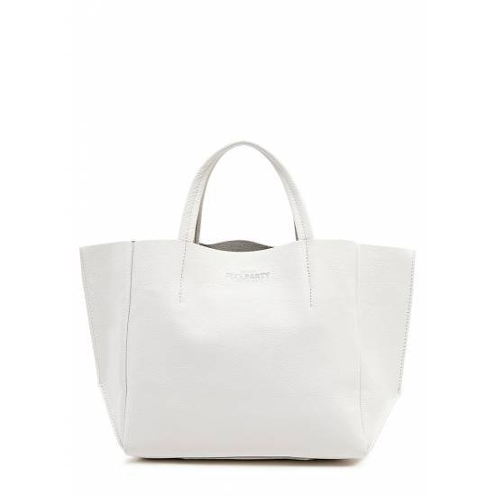 Кожаная сумка белого цвета