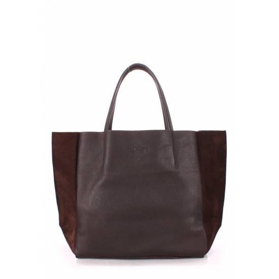Кожаная сумка коричневого цвета