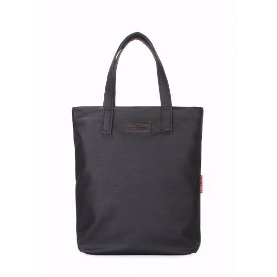 Черная сумка из искусственной кожи
