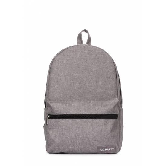 Повседневный городской рюкзак серого цвета