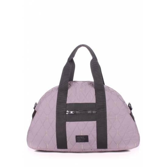 Стеганая сумка серого цвета
