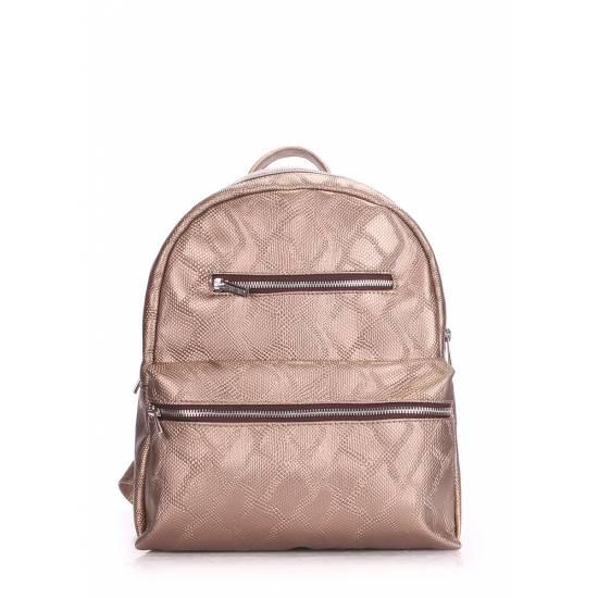 Женский рюкзак золотого цвета