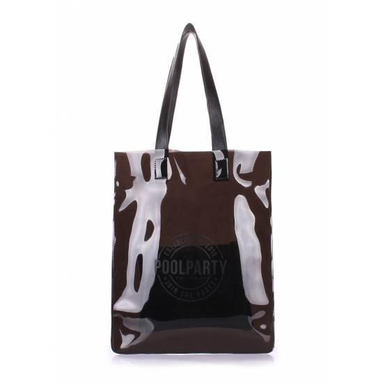 Прозрачная сумка черного цвета