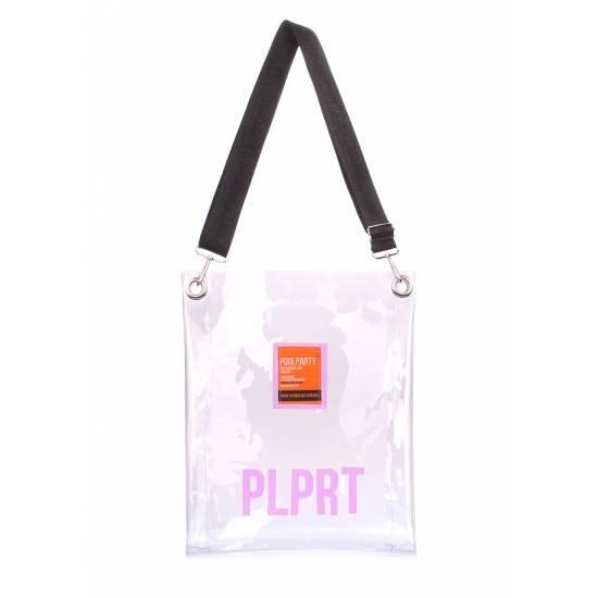 Прозрачная сумка с ремнем на плечо