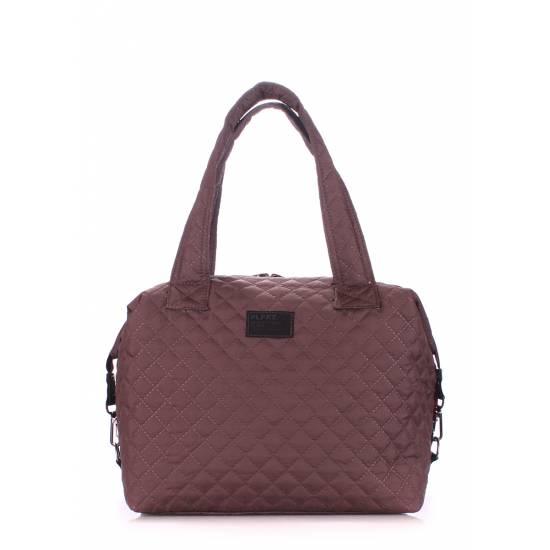 Стеганая сумка коричневого цвета