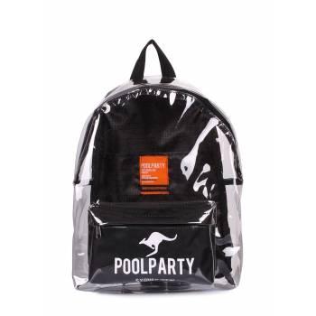 Черный прозрачный рюкзак