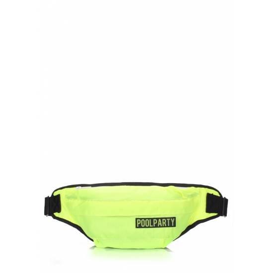 Неоновая сумка зеленого цвета на пояс