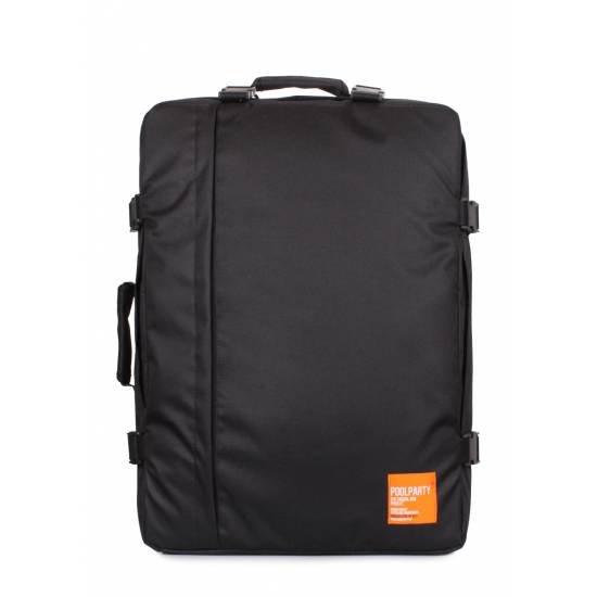 Рюкзак-сумка черного цвета для ручной клади