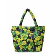 Дутая сумка желтого цвета с принтом