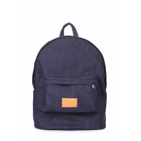 Джинсовый рюкзак синего цвета