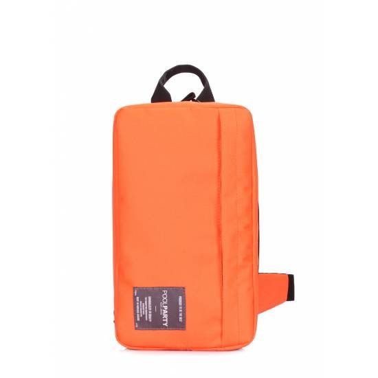 Оранжевый рюкзак слингпек с наружным карманом