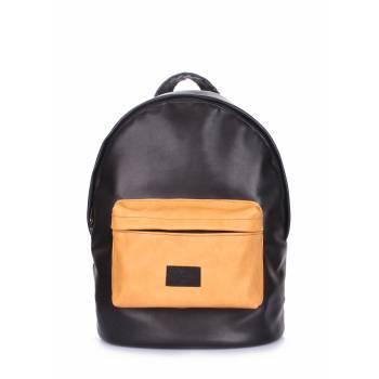 Черно-оранжевый рюкзак из искусственной кожи