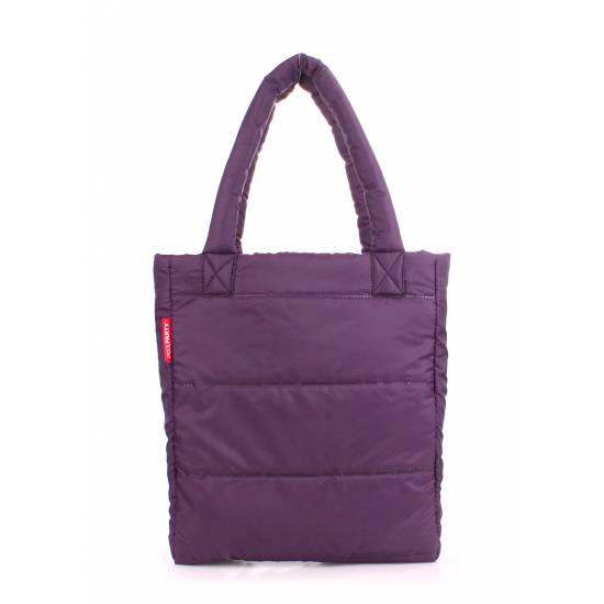 Дутая фиолетовая сумка