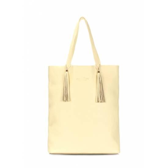 Кожаная сумка желтого цвета